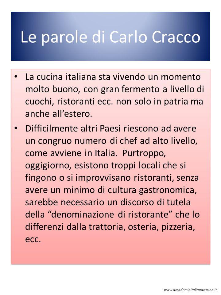 Le parole di Carlo Cracco