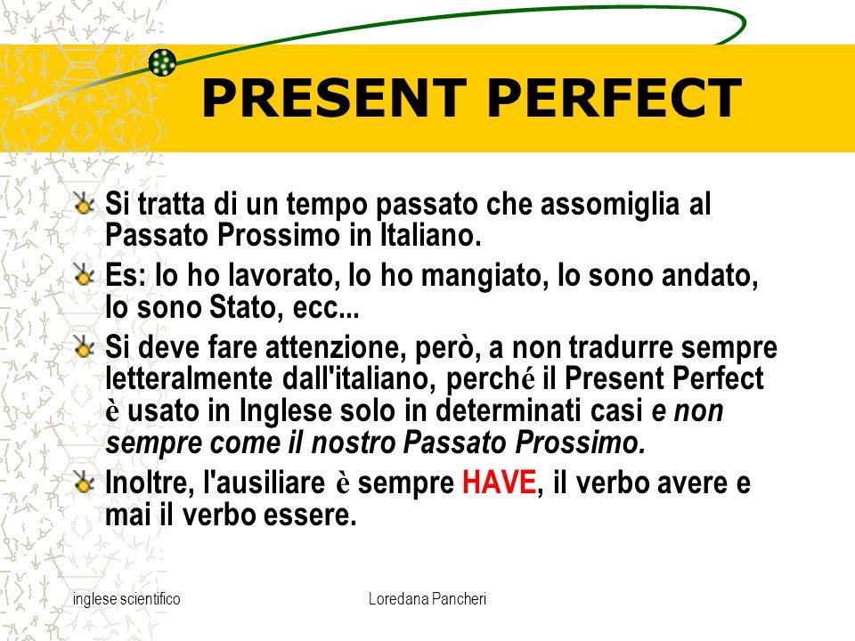 PRESENT PERFECT Si tratta di un tempo passato che assomiglia al Passato Prossimo in Italiano.