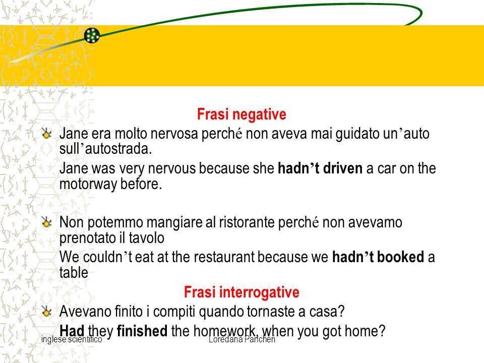 Frasi negative Frasi interrogative