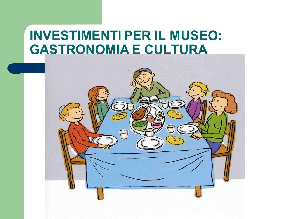 INVESTIMENTI PER IL MUSEO: GASTRONOMIA E CULTURA