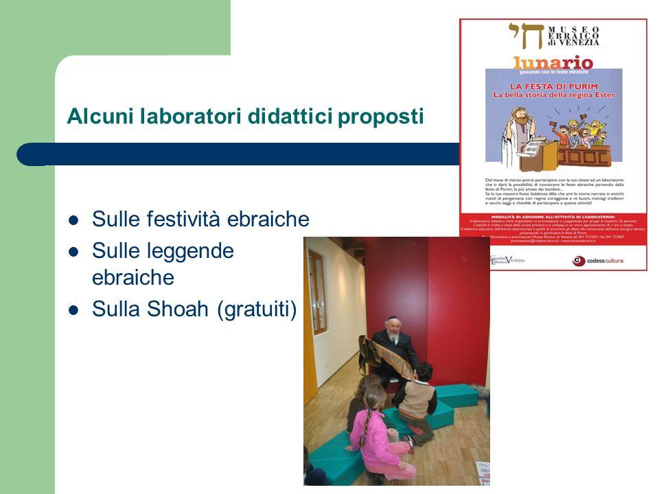 Alcuni laboratori didattici proposti