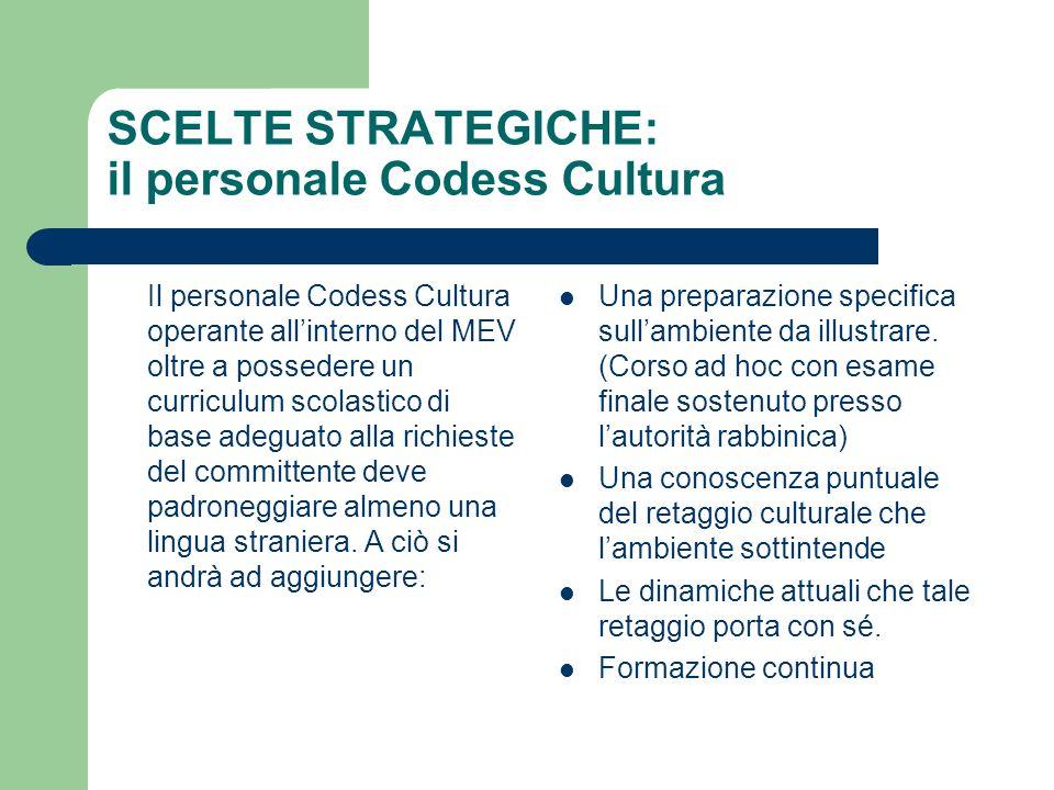 SCELTE STRATEGICHE: il personale Codess Cultura