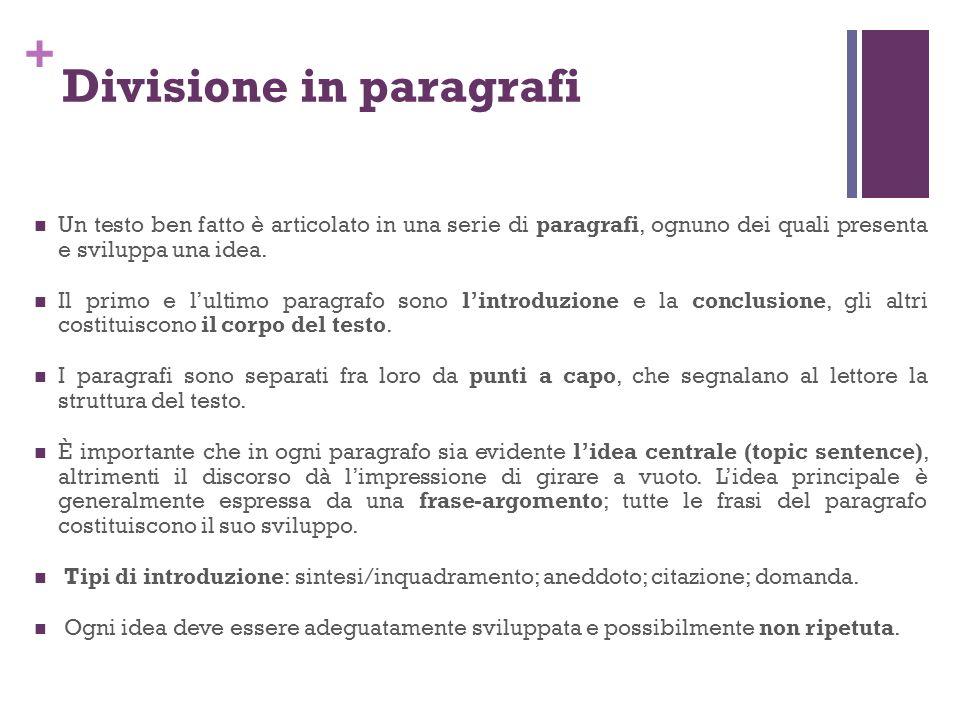 Divisione in paragrafi
