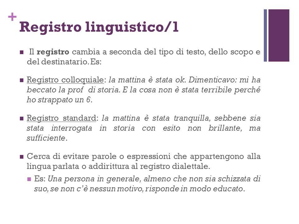 Registro linguistico/1