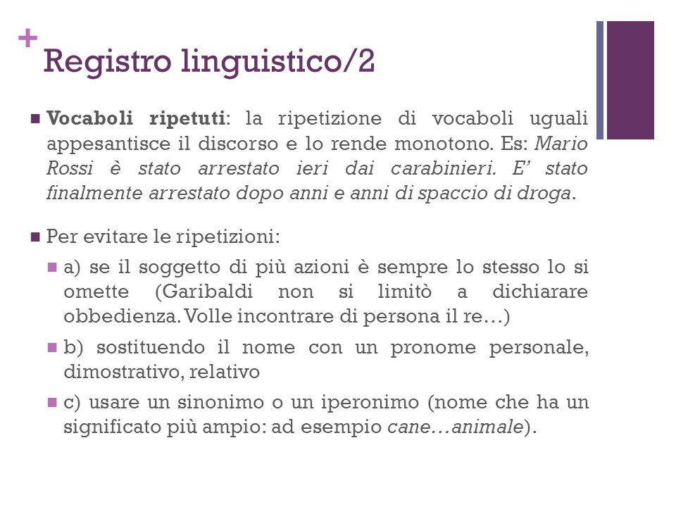 Registro linguistico/2
