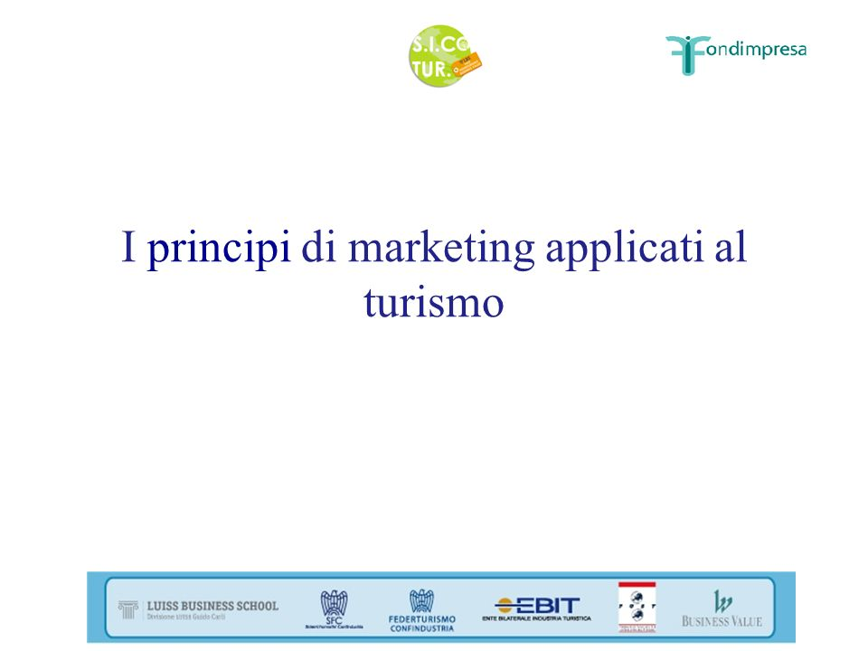 I principi di marketing applicati al turismo