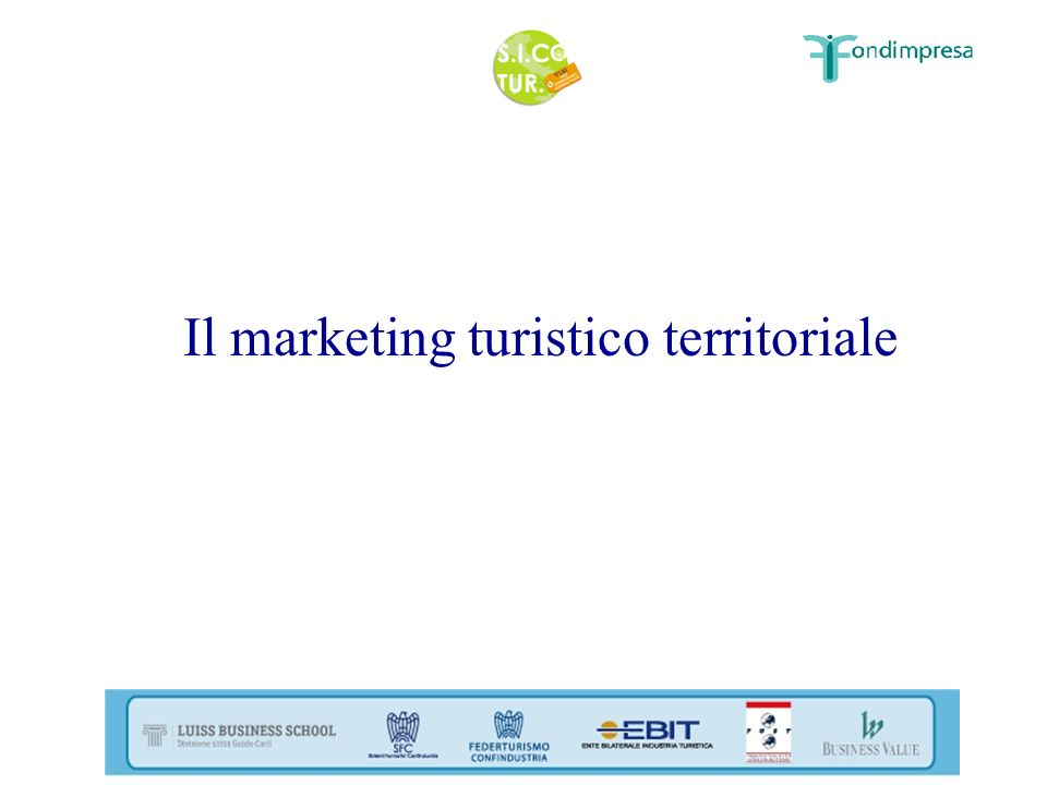 Il marketing turistico territoriale
