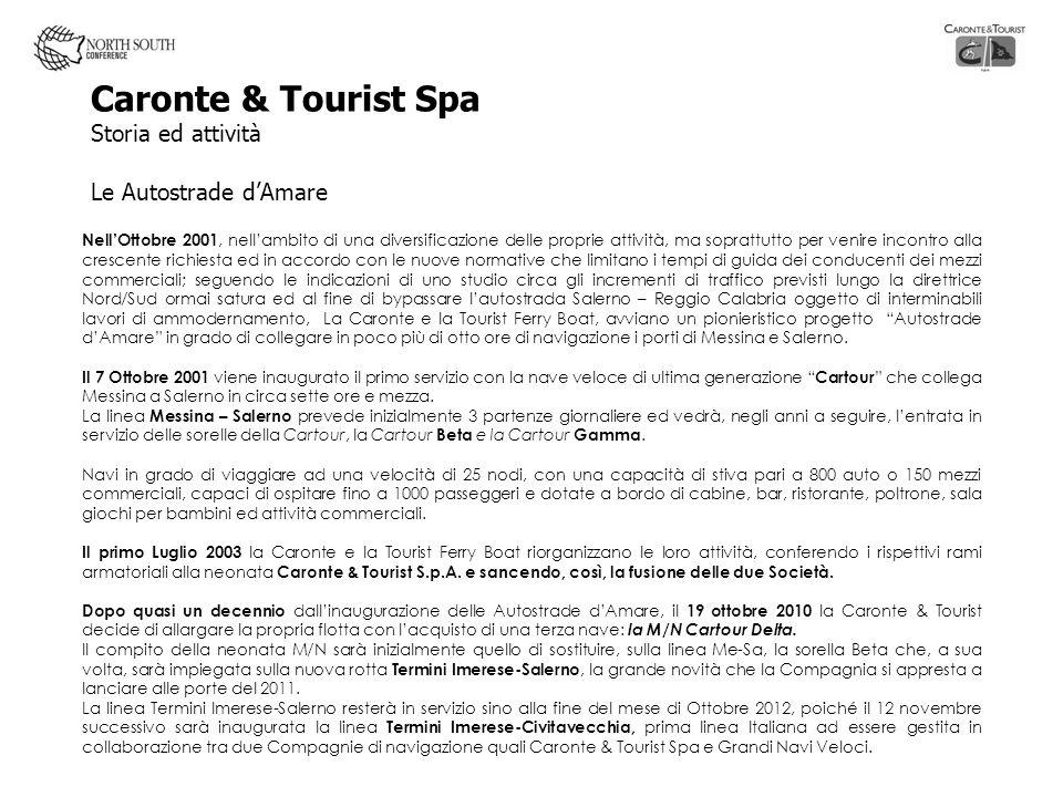 Caronte & Tourist Spa Storia ed attività Le Autostrade d'Amare