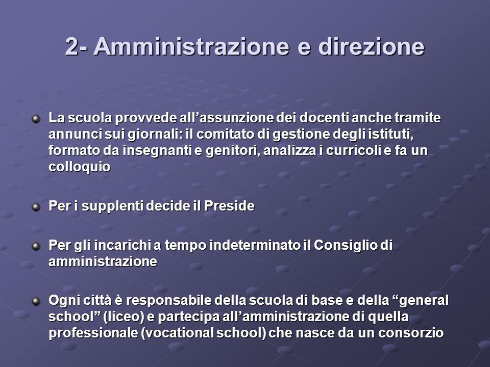2- Amministrazione e direzione