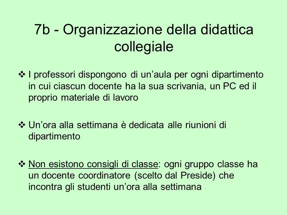 7b - Organizzazione della didattica collegiale