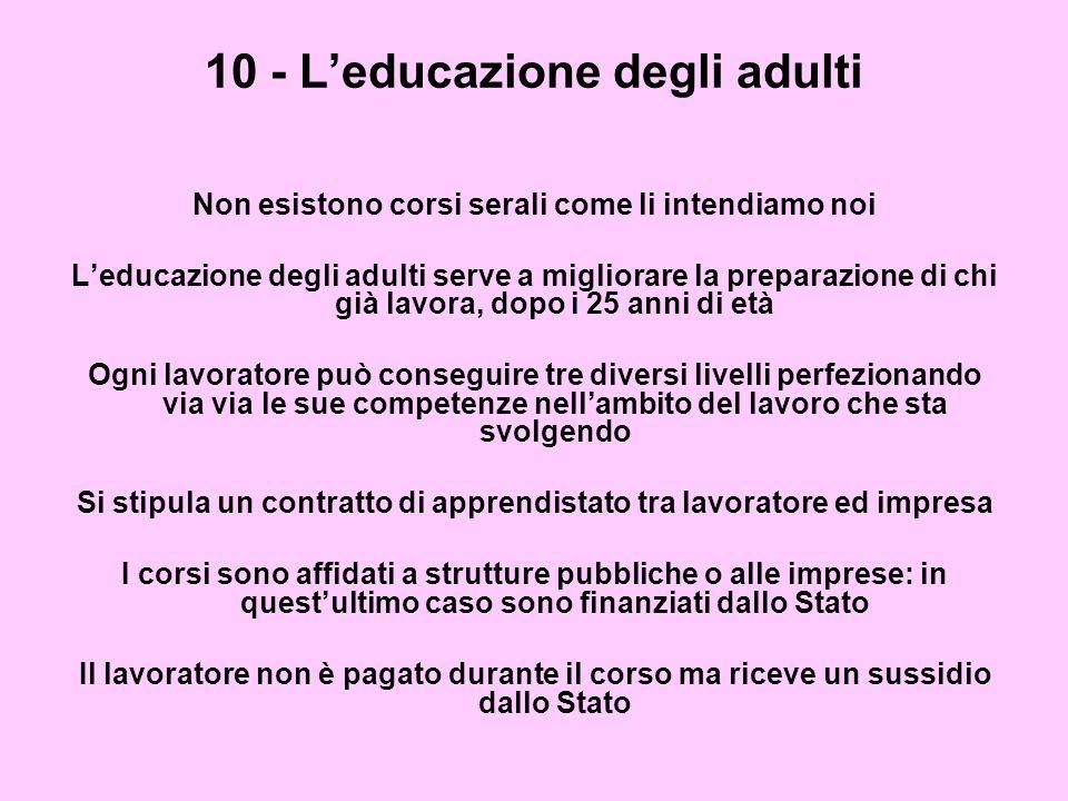 10 - L'educazione degli adulti