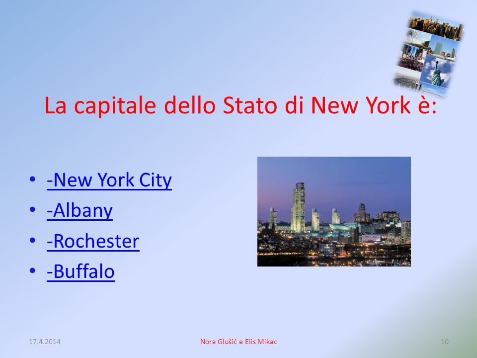 La capitale dello Stato di New York è:
