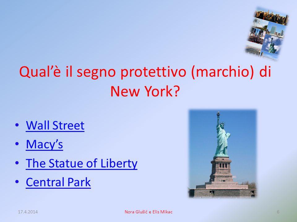Qual'è il segno protettivo (marchio) di New York