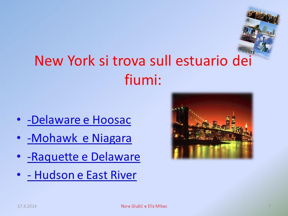 New York si trova sull estuario dei fiumi: