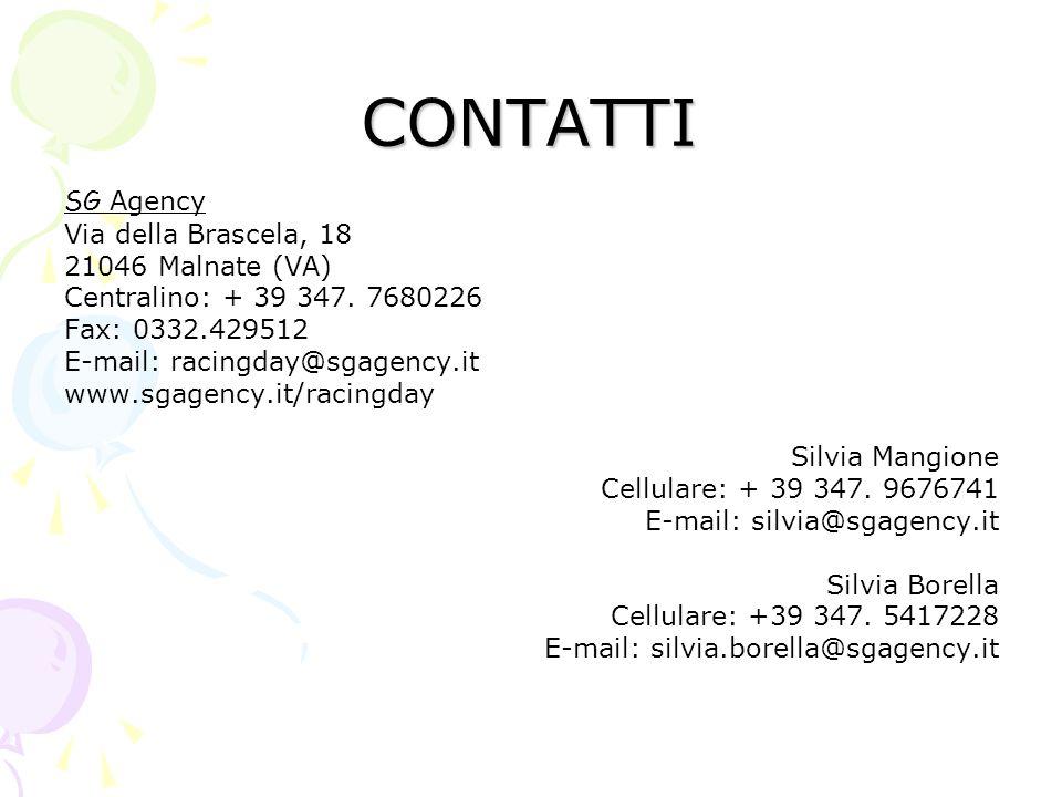 CONTATTI SG Agency Via della Brascela, 18 21046 Malnate (VA)
