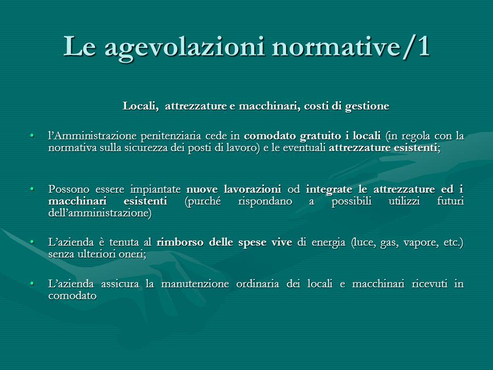 Le agevolazioni normative/1