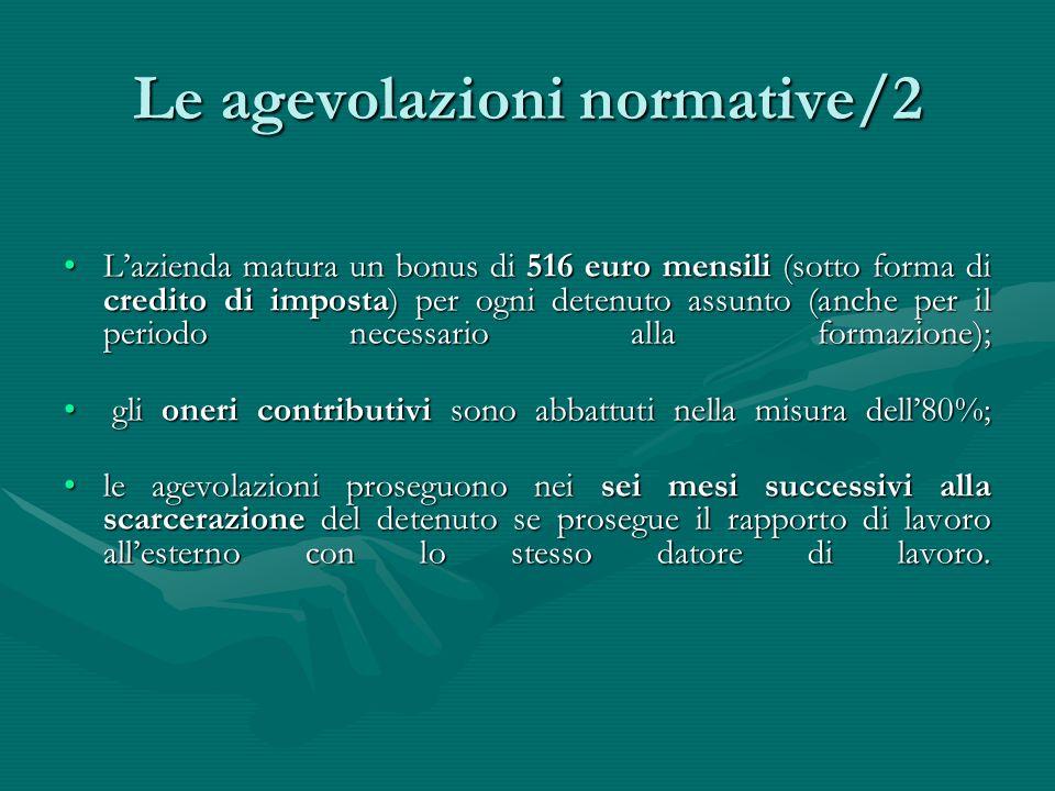 Le agevolazioni normative/2