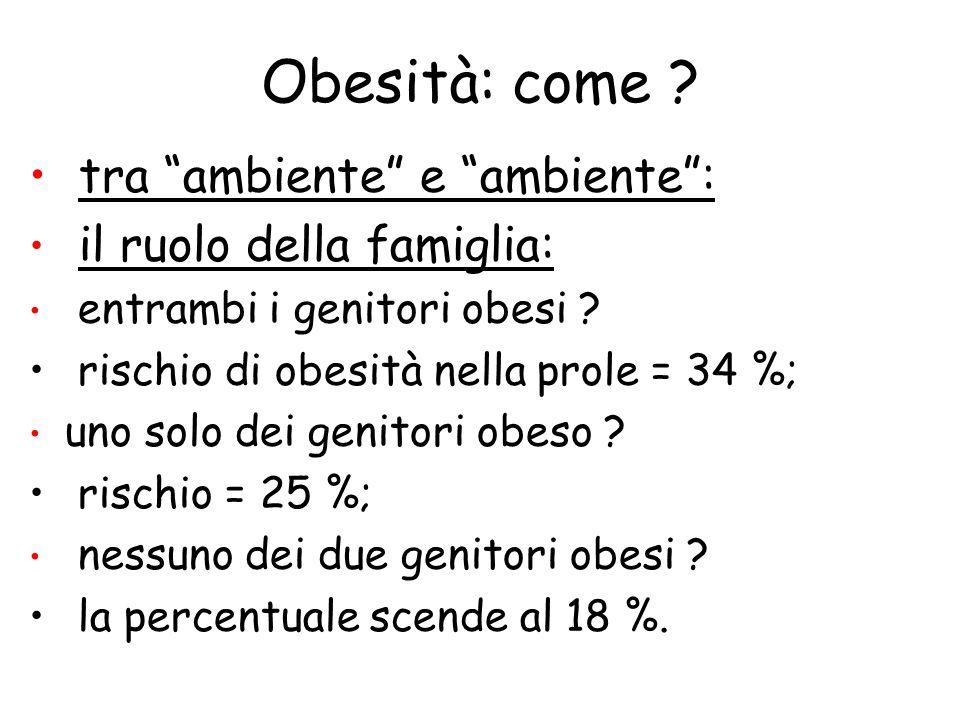 Obesità: come tra ambiente e ambiente : il ruolo della famiglia: