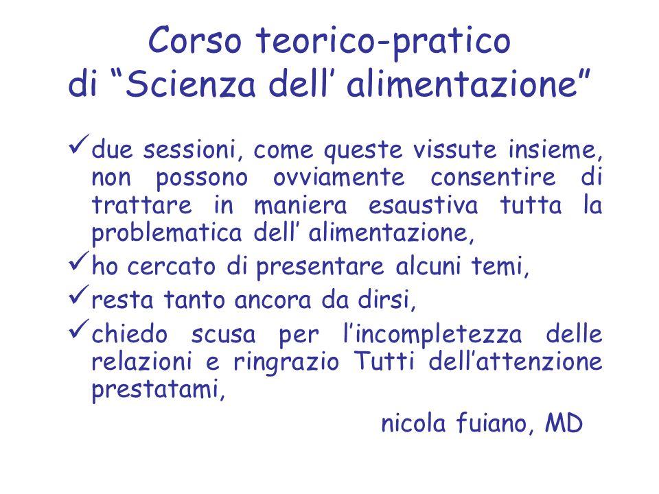 Corso teorico-pratico di Scienza dell' alimentazione