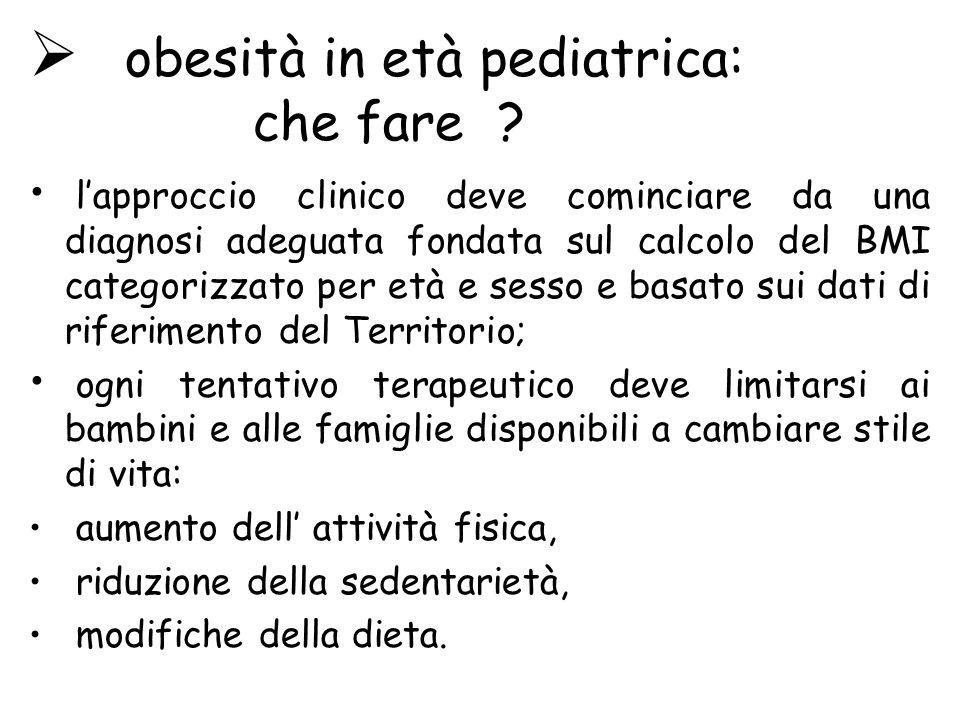 obesità in età pediatrica: che fare