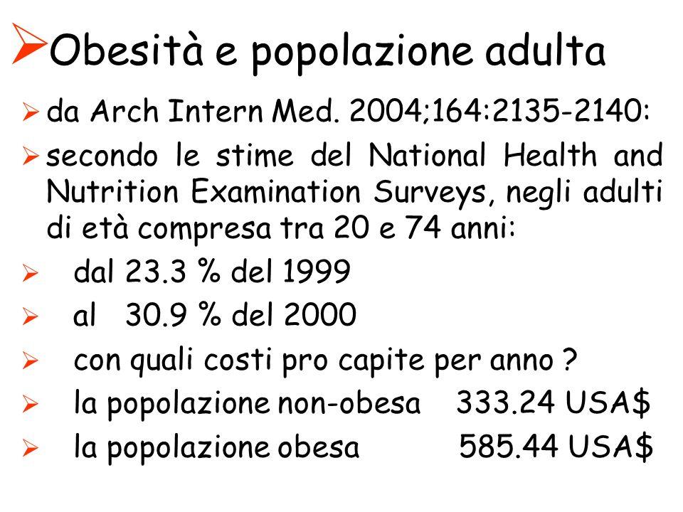 Obesità e popolazione adulta