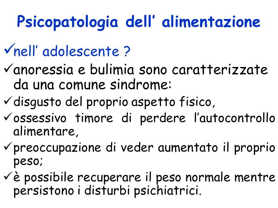 Psicopatologia dell' alimentazione