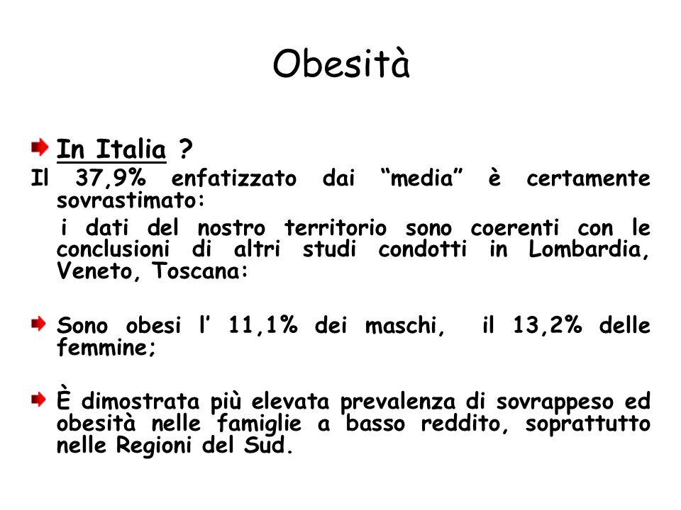 Obesità In Italia Il 37,9% enfatizzato dai media è certamente sovrastimato: