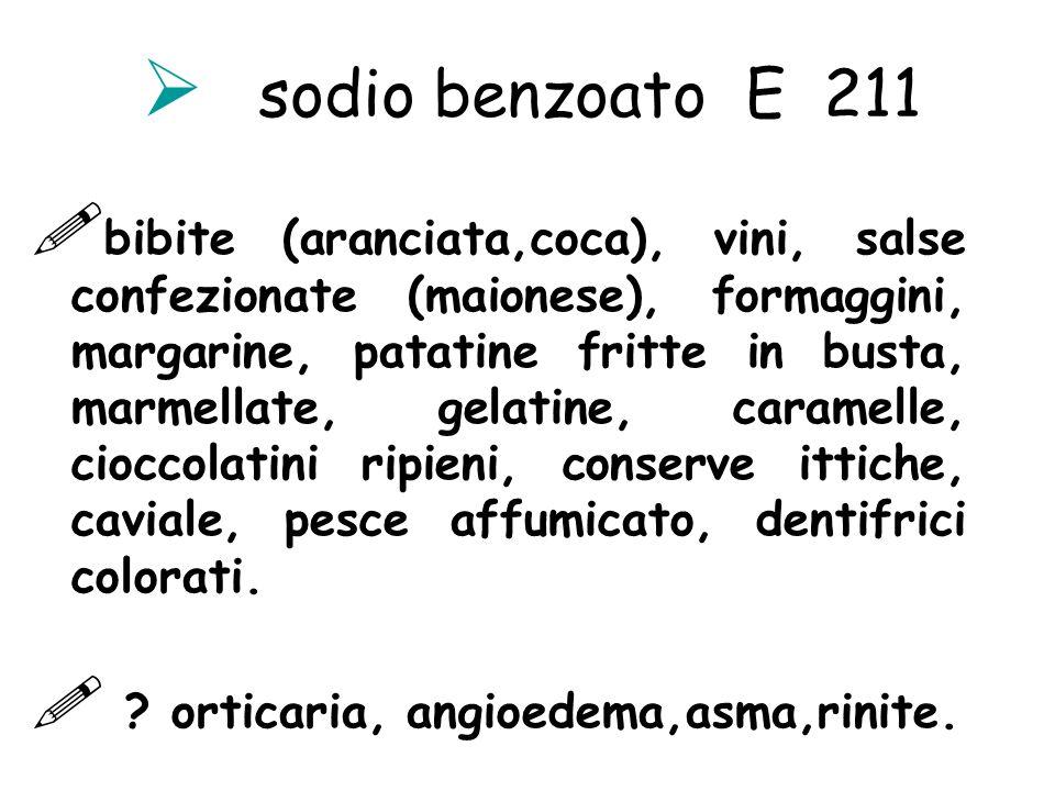 sodio benzoato E 211