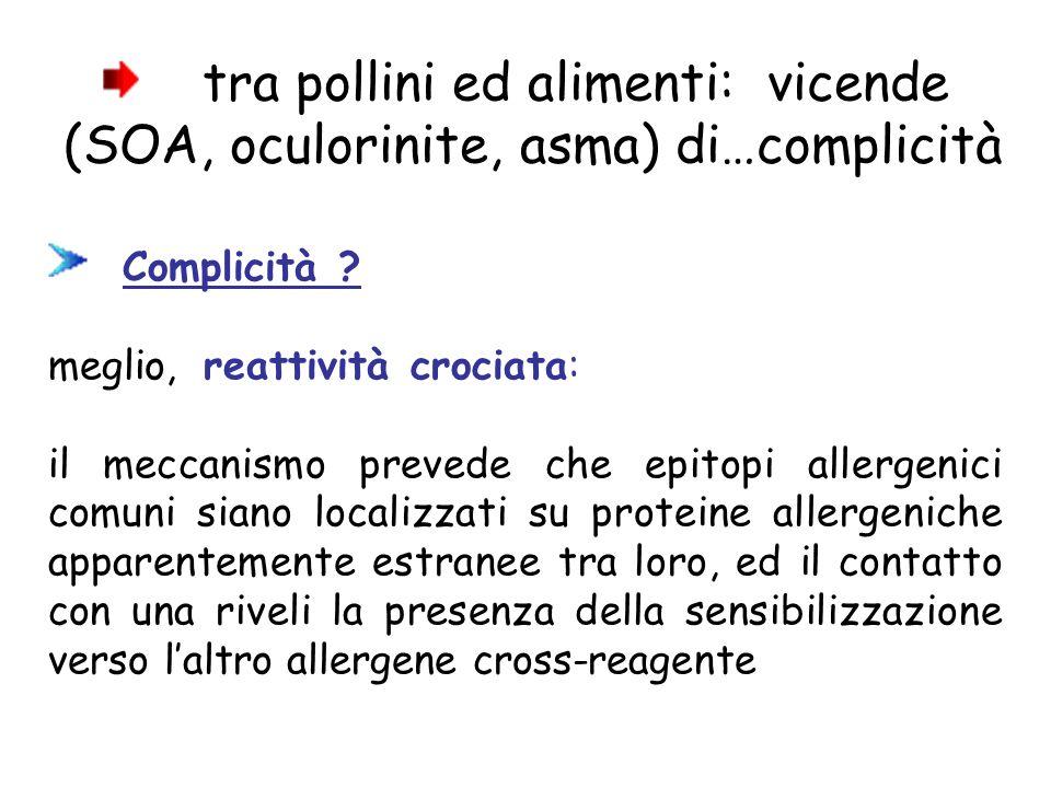 tra pollini ed alimenti: vicende (SOA, oculorinite, asma) di…complicità
