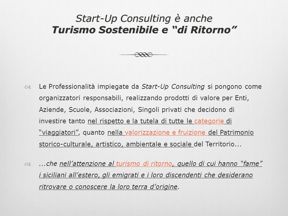 Perché scegliere Start-Up Consulting