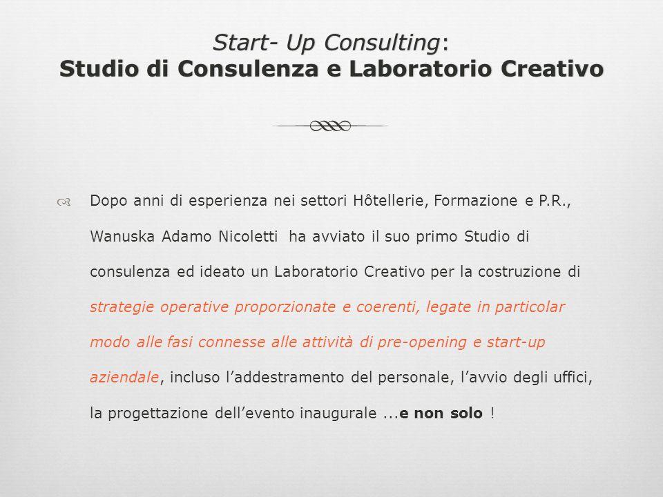 INDICE: Presentazione Studio di Consulenza e Laboratorio Creativo