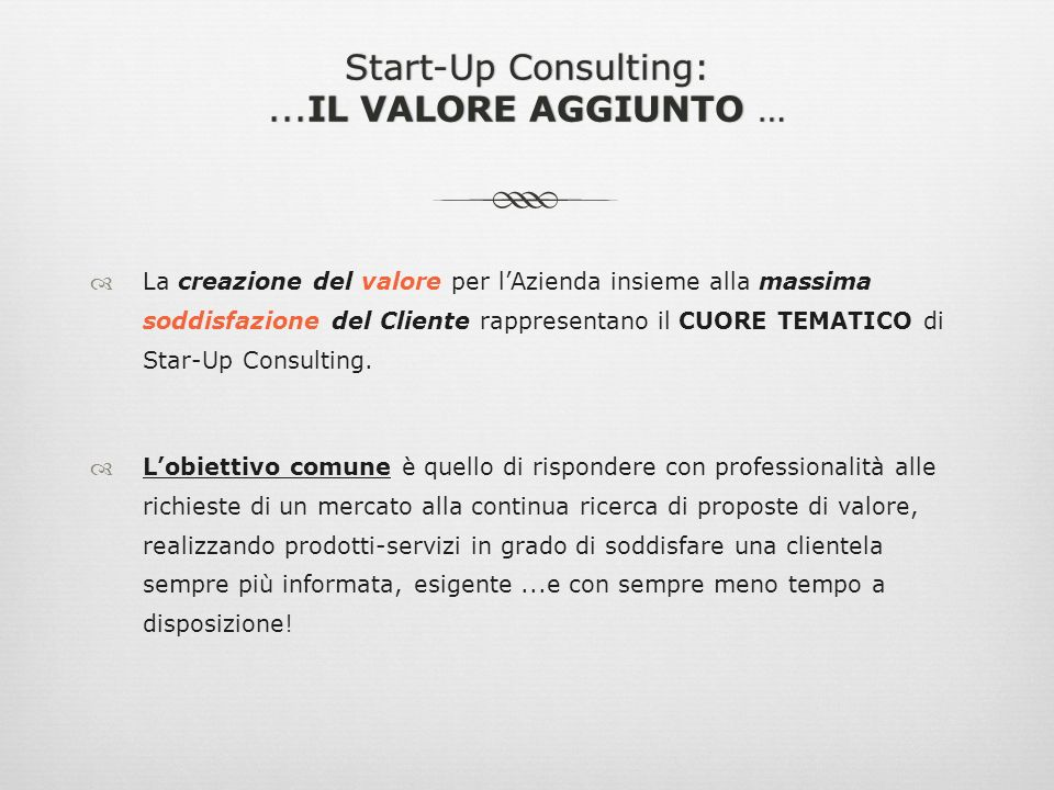 Start- Up Consulting: Studio di Consulenza e Laboratorio Creativo