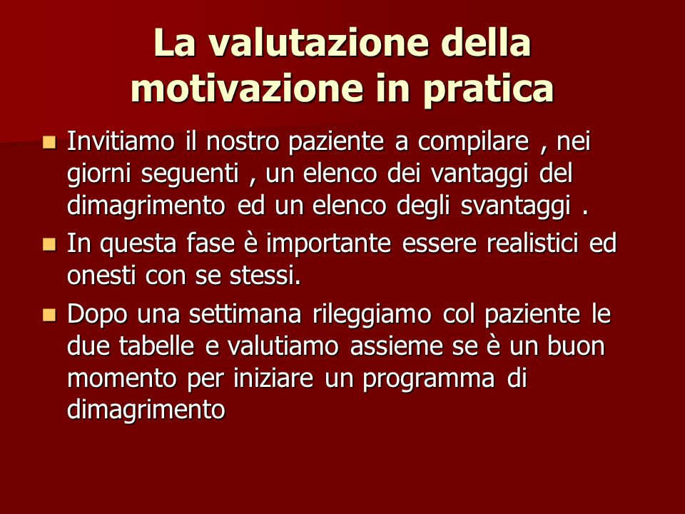 La valutazione della motivazione in pratica