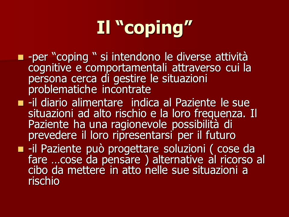 Il coping
