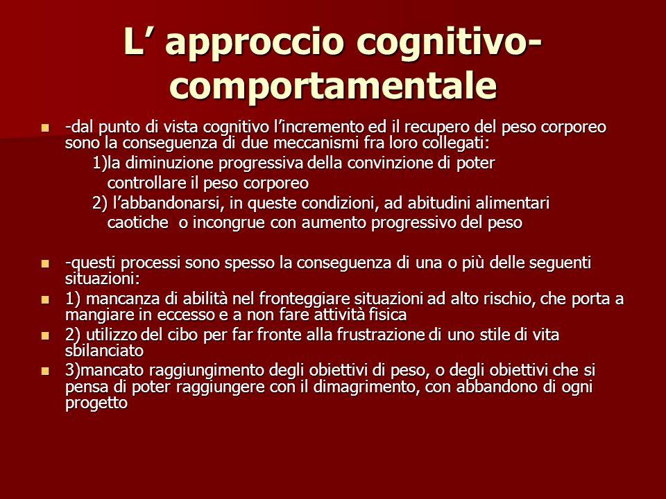 L' approccio cognitivo-comportamentale