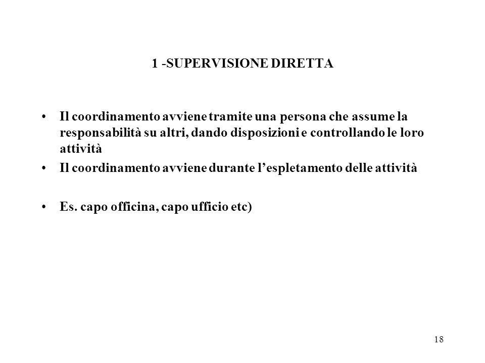 1 -SUPERVISIONE DIRETTA
