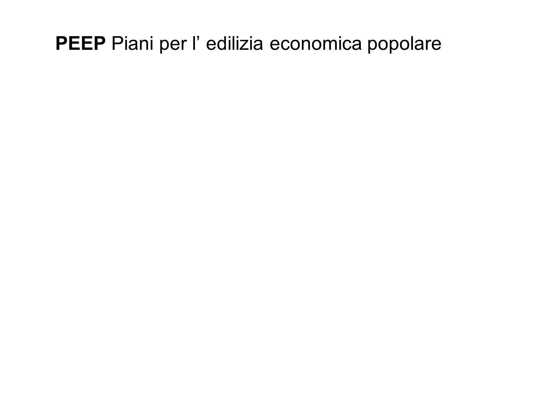 PEEP Piani per l' edilizia economica popolare