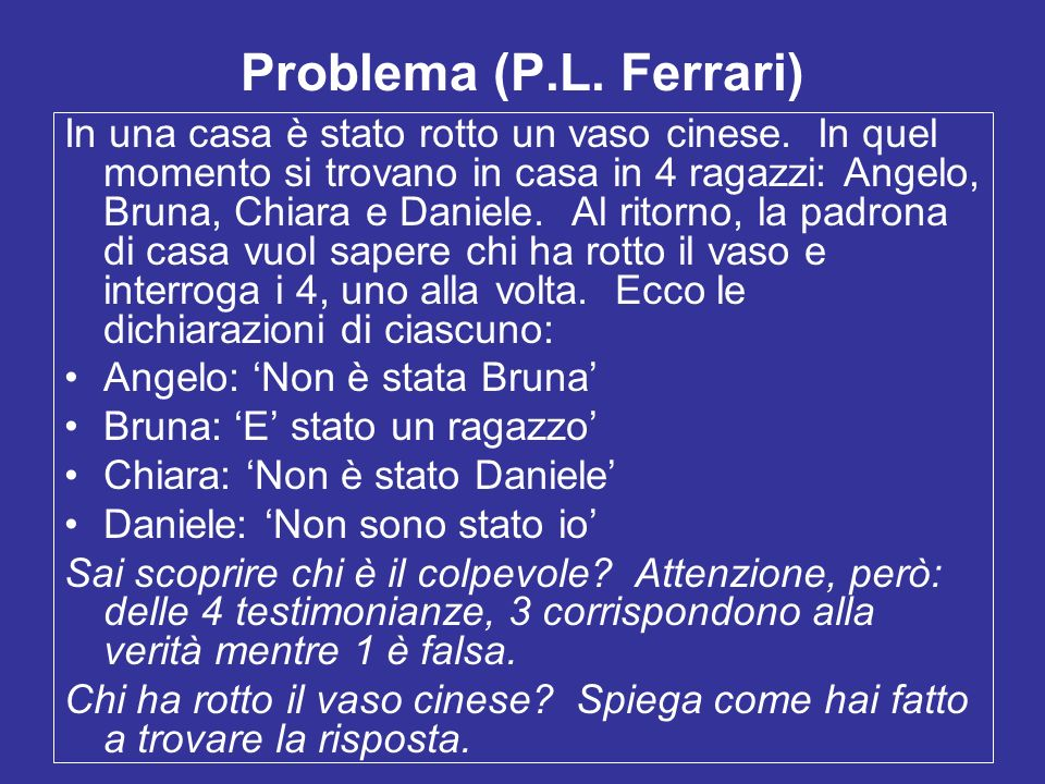 Problema (P.L. Ferrari)