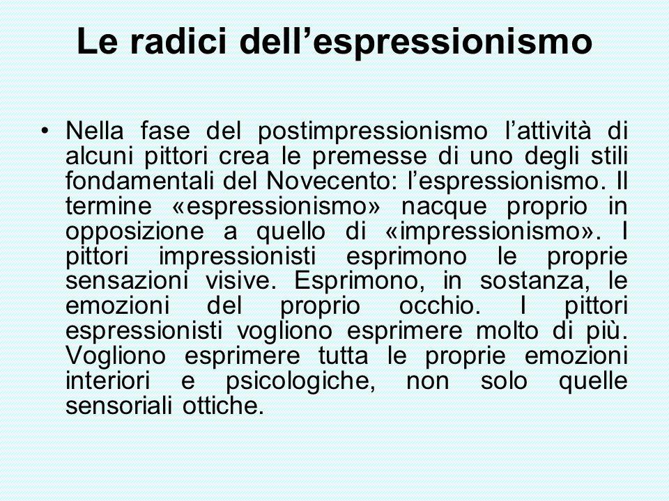 Le radici dell'espressionismo