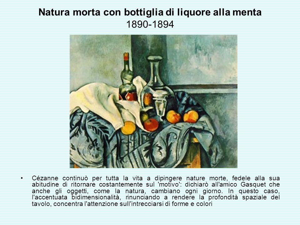 Natura morta con bottiglia di liquore alla menta 1890-1894