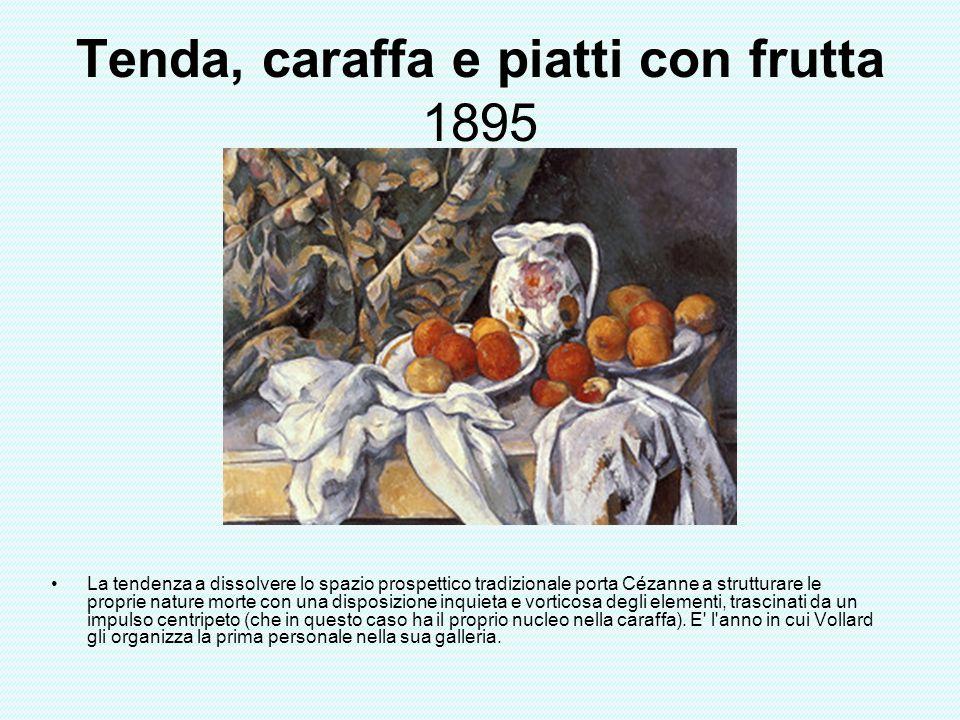 Tenda, caraffa e piatti con frutta 1895
