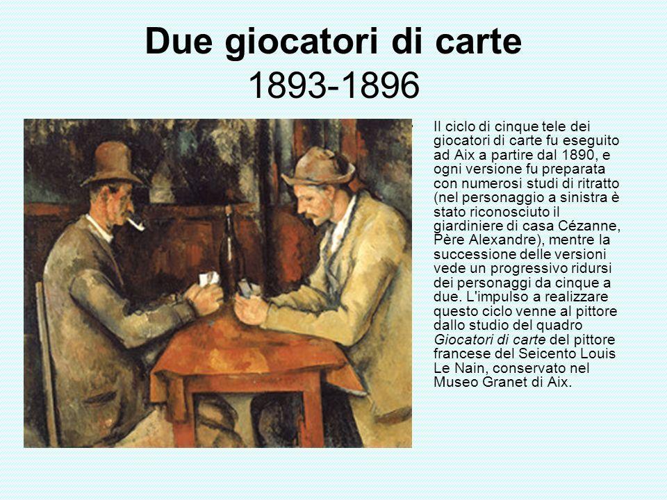 Due giocatori di carte 1893-1896