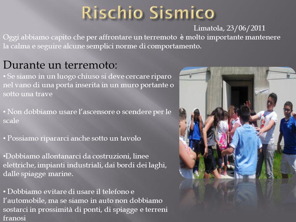 Durante un terremoto: Limatola, 23/06/2011