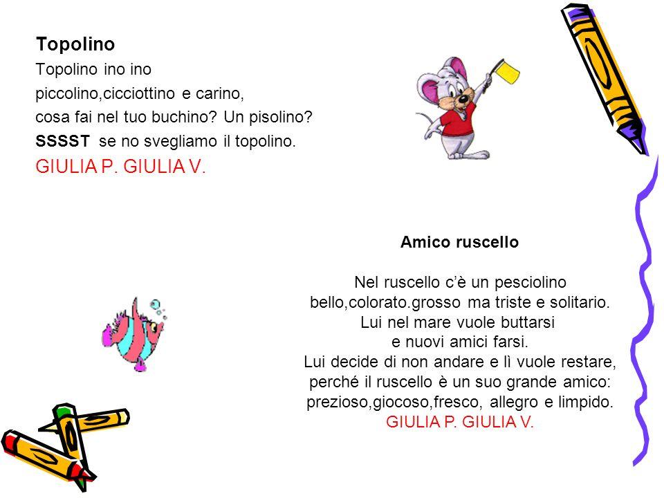 Topolino GIULIA P. GIULIA V. Topolino ino ino