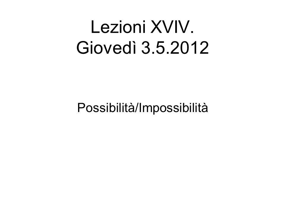Possibilità/Impossibilità