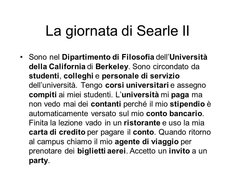 La giornata di Searle II