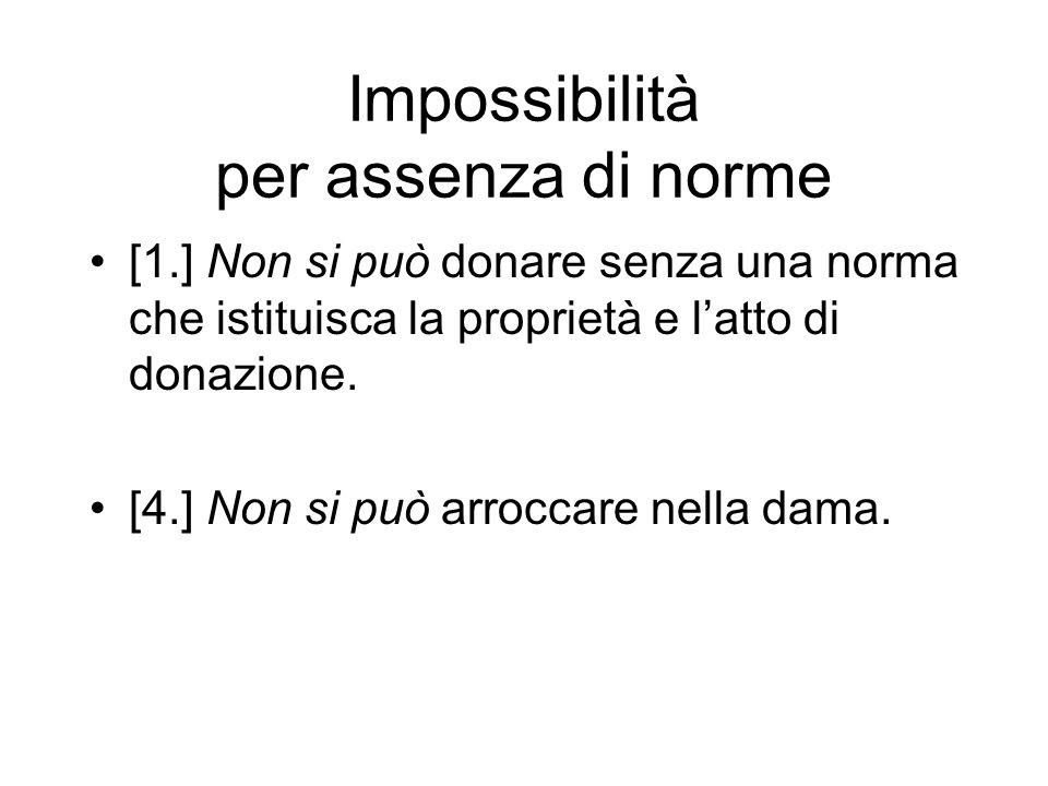 Impossibilità per assenza di norme