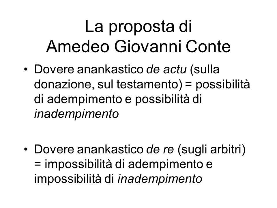 La proposta di Amedeo Giovanni Conte