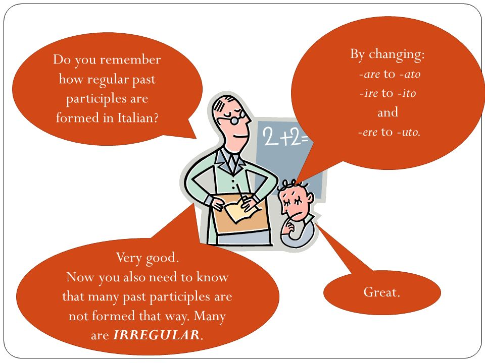 Do you remember how regular past participles are formed in Italian
