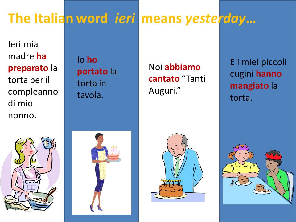 The Italian word ieri means yesterday…